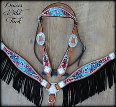 Custom horse tack loaded with bling made in Texas.