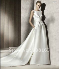 2012 Style ! New Arrival White Satin Lace Top Long Sleeve Wedding Dress 2012-in  Wedding Dresses from Weddings   Events on Aliexpress.com  39c36a84ce8f