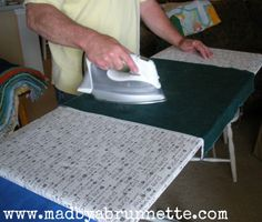 Tutorial: Ironing BIG Board   made by a brunnette