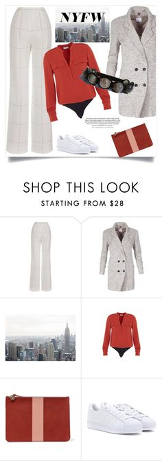"""""""What to Pack: NYFW"""" by zenstore ❤ liked on Polyvore featuring Clare V., adidas and NYFW"""