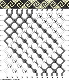 Interlocking Spirals Friendship Bracelet Pattern