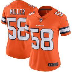 Von Miller Denver Broncos Nike Women's Color Rush Limited Jersey - Orange - $149.99