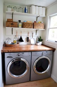 41 Awesome Farmhouse Laundry Room Decor Ideas