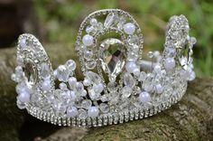 Bridal Crystal Tiara Wedding Tiara Bridal Crown by NovaHandmade