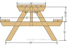 picnic table side frame