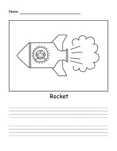 How to draw a rocket. Simple drawing for your child. Easy Drawings, Your Child, Learning, Words, Children, Simple, Young Children, Boys, Studying