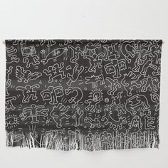 Vw T5, Keith Haring, Black Walls, Wall Hangings, Yarns, Printing Process, Line Art, Dorm, Alternative