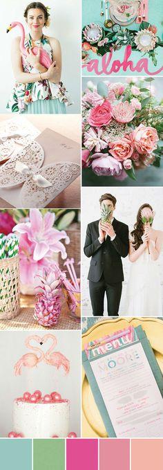 tropicana inspired pink summer weddings