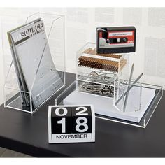 clear acrylic desk accessories