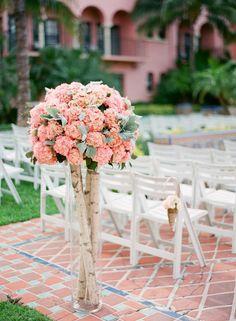 Hydrangea Wedding Aisle Decor ~ we ❤ this! moncheribridals.com