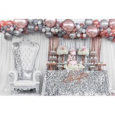 "542 Likes, 26 Comments - Glam Occasions (@glam_occasions) on Instagram: ""Shayna Pandora Inspired Sweet 16... Balloons by @balloonsbysb Throne chair by @justdreamevents Cake…"""