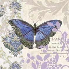 Lot de 2 Serviettes en papier Papillons Decoupage Collage Decopatch