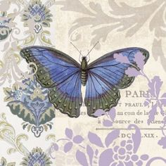 VINTAGE PAPILLON, 600+ Different Designs in Stock. PREMIUM Quality Paper Napkin…