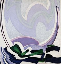 Frantisek Kupka, Moving Blues, 1923  TONE 80%/BLACK 10%/WHITE 10%