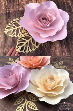 #paperflowers #paperroses #giantpaperflowers Paper Flower Wall, Paper Flower Backdrop, Giant Paper Flowers, Flower Wall Decor, Paper Roses, Diy Flowers, Flower Diy, Girl First Birthday, Third Birthday