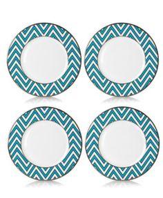 Turquoise ZigZag Accent Plates #Mikasa #plates