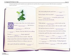 """fun """"Mad Libs"""" type fairy tale. did this with my kid tonight and it turned out pretty funny!"""