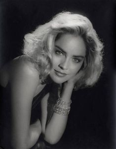 Sharon Stone photographed by George Hurrell in 1979