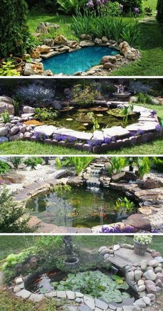 Summer garden: transform your garden into an outdoor oasis - Gartenteich Outdoor Ponds, Diy Pond, Pond Waterfall, Pond Landscaping, Backyard Water Feature, Pond Design, Cv Design, Water Pond, Water Features In The Garden