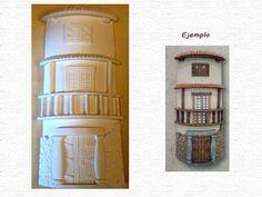 Teja de marmolina, Fachada balcón   Tienda de manualidades, venta de productos y artículos de decoración y bellas artes.