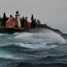 Michigan Lighthouse  Looks like Eagle Harbor
