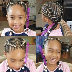 Hooked my girl up. Corset braids #WhiteGirlFlame #MsFlavasCreations #KidsBraids