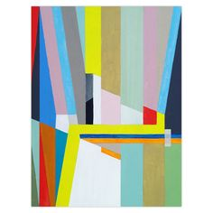 Colour Block Canvas Artwork - Sideboard Styling - Temple & Webster presents