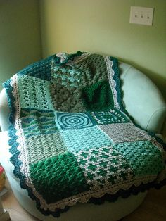 Ravenjasmines First Sampler Crochet Sampler Afghan