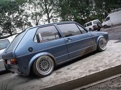 #vw #golf #slammed #low #dub #volkswagen #mk1 #golf1 #bbs