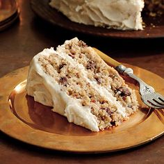Mocha-Apple Cake with Browned Butter Frosting - Southern Living