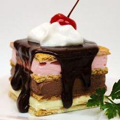 Fake-Out Neopolitan Ice Cream Dessert