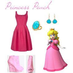 Princess Peach, created by elocinecko on Polyvore