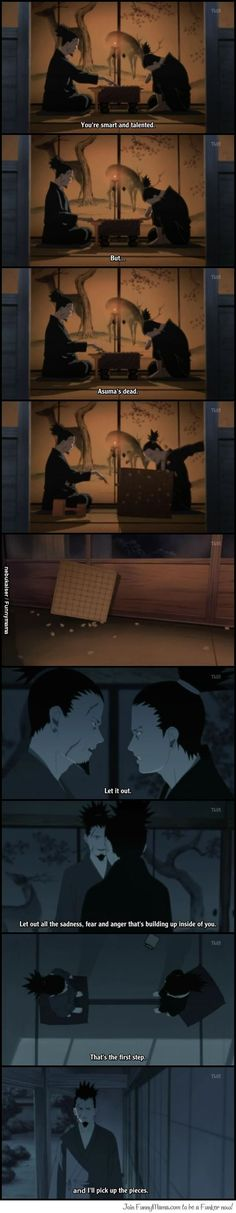 Poor Shikimaru. I miss Asuma too - One of the times I actually cried while watching Naruto: