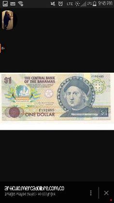 Este es un dolar donde esta la imagen de cristobal COlon en un billete de dollar, despues de su muerte y del descrubimiento que hizo.