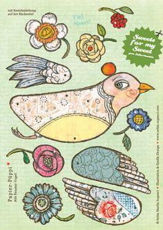So delightful  http://de.dawanda.com/product/134327-Bastelbogen-A4-Mobile-FENSTERVOGEL