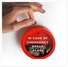 Glass Money Box Saving Bank in Case of Emergency Smash Gadget Santa Piggy Bank Choses Cool, Money Bank, Loan Money, Cash Money, Take My Money, Broken Glass, In Case Of Emergency, Family Emergency, Cool Inventions