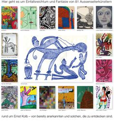 Welcome to a collection of outsider art Web Gallery, Outsider Art, The Outsiders, Presents, Artist, Mannheim, Small Art, Gifts, Artists