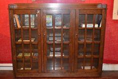 Mission Oak three door Bookcase / Arts and Crafts —