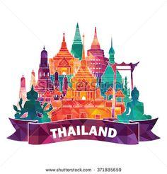 Thailand detailed skyline. Vector illustration - stock vector