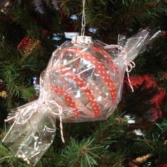 Washi Tape Cellophane Glass Christmas Ornament
