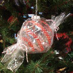 Washi Tape Cellophane Glass Christmas Ornament