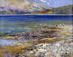 Marisma, óleo sobre lienzo de Eliseo Meifren I Roig (1857-1940, Spain)