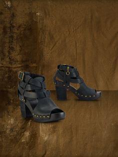 Jayden Caged Leather Sandal - Sandals  Shoes - RalphLauren.com