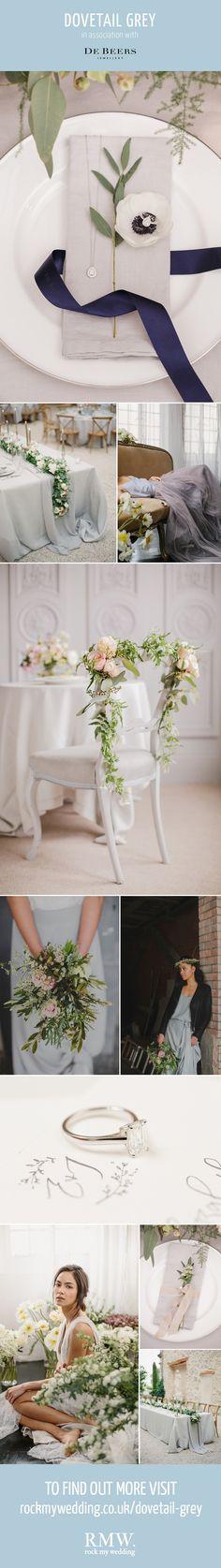 Dovetail Grey Wedding Inspiration   http://www.rockmywedding.co.uk/dovetail-grey/