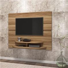 Risultati immagini per painel de tv sala Tv Panel, Wall Mounted Tv, Tv Cabinets, Tv Unit, Interior Design, Mount Tv, Home Decor, Image, Bedroom