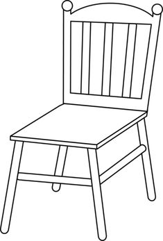 chair cartoon black and white Black And White Furniture, Black And White Chair, White Chairs, Black And White Google, Clipart Black And White, Animal Activities For Kids, Line Art Images, Chair Drawing, Paint Cookies
