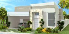 Decor Salteado - Blog de Decoração | Arquitetura | Construção | Paisagismo: Fachadas de Casas Térreas – veja 20 modelos modernos e bonitos!