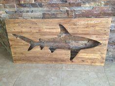 Problemas plataforma tiburón madera cuadros de por BBSIGNSDESIGNS