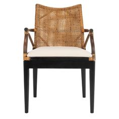 Shop Safavieh Rural Woven Dining Gianni Brown/ White Cushion Arm Chair - x x - On Sale - Overstock - 9542194 Bar Furniture, Furniture Deals, Living Room Furniture, Outdoor Furniture, Furniture Outlet, Online Furniture, Retro Furniture, Farmhouse Furniture, Painted Furniture