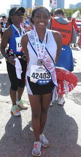 2010: Miss Black Illinois completes Chicago Marathon